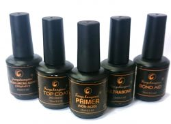 KIT FENGSHANGMEI: PRIMER, TOP COAT, PH BALANCING, BOND AID E ULTRABOND - 15 ML